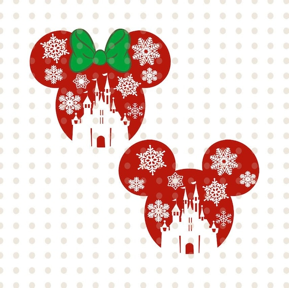 Disney Castle Christmas Svg.Svg Disney Castle Christmas Svg Png Eps Dxf Jpg Format Mickey Mouse Silhouette Cut Out Clipart Cricut Silhouette Snowflake Mickey Mouse Head