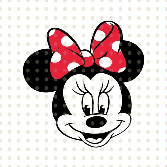 Minnie Maus Svg Instant Download Minnie Mouse Kopf Minnie Maus Etsy