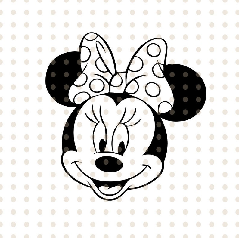 minnie mouse svg instant download minnie mouse head vector