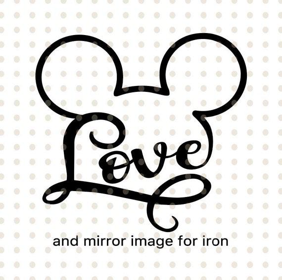 Download Disney svg love disney svg love mickey svg love mickey | Etsy