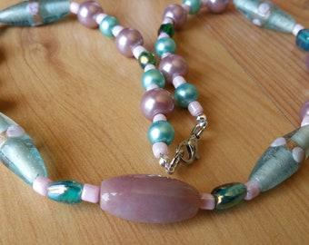 Pale Blue Summer Dreams Necklace