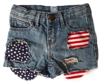 MURICA girls 4th of July shorts