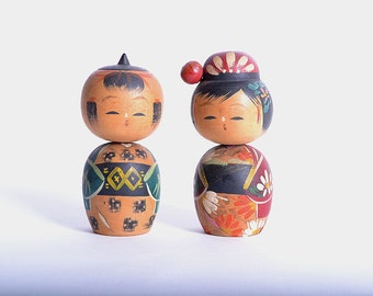 Japanese Vintage Kokeshi Doll  11cm japanese traditional wooden doll