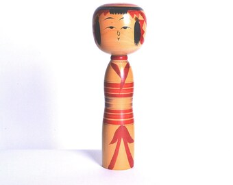 Japanese Vintage Kokeshi Doll 24cm japanese traditional wooden doll