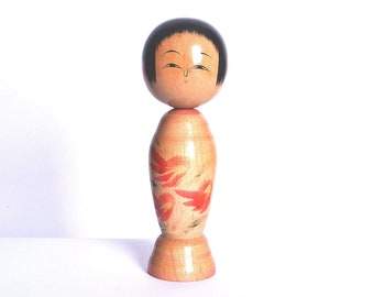 Japanese Vintage Kokeshi Doll 23cm japanese traditional wooden doll