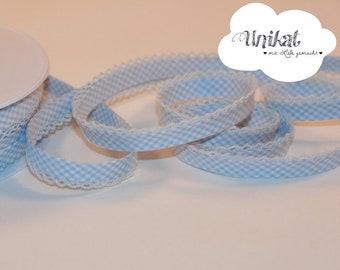 white Slanted Ribbon with crochet braid