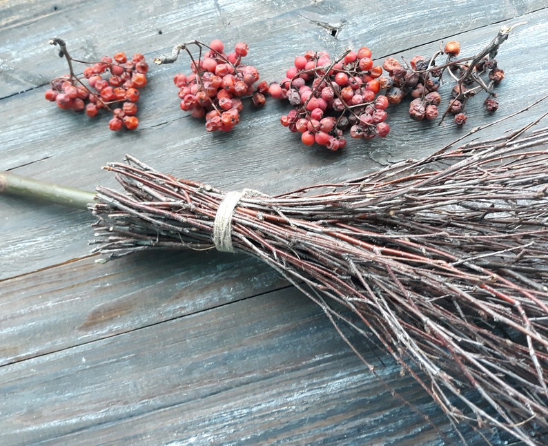 Mini Witches broom Pagan rituals Wiccan rituals tool Witches broomstick  Handmade broomstick Rustic wedding decor Magick altar tool Eco decor