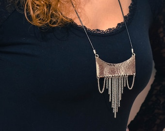 Silver-Handmade Thirteen Chains Pendant