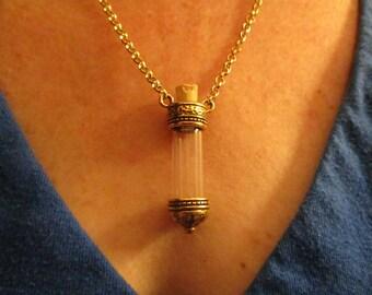 Keepsake Vial Necklace, Vial Necklace, Urn necklace