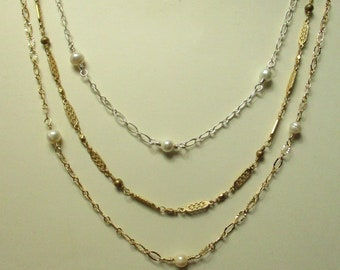 Fashion Necklaces, Pearl Necklace, Handmade Jewelry