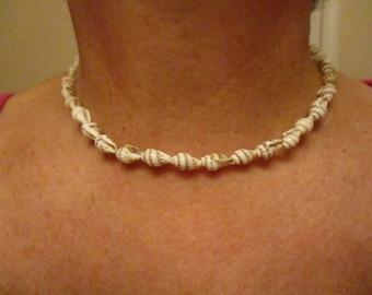 Shell Choker, Shell and Pearl Choker, Beach Necklace, Shell Necklace, Seashell Choker