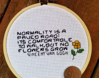 Van Gogh Motivational cross stitch