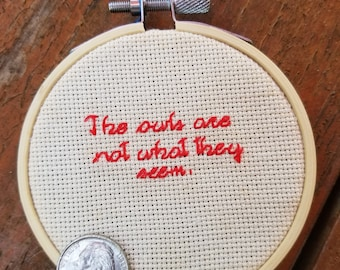 The Owls Are Not What They Seem cross stitch