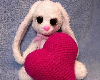 Bunny white plush crochet