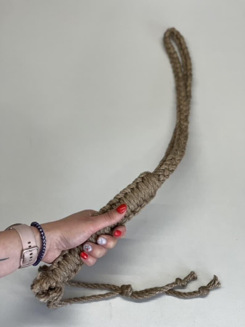 Whip bdsm jute whip jute Shibari Rope dragon whip jute snake image 0