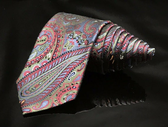Paul Fredrick Mens Paisley Silk Tie