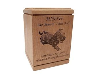 Urn for Dog Cat Ashes, Memorial Cremation Urn, Photo Engraved Urn, Ashes Urn for Pets, Pet Urn for Dog Cat, Cremate Urn