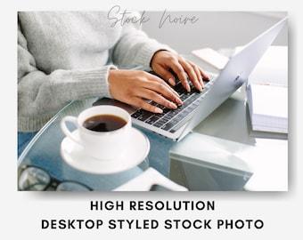 Desktop styled stock photography  Instant download  desktop mockup soft toy for kids  cute bear