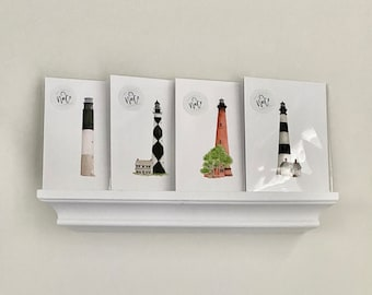 North Carolina Lighthouse Collection/ Full NC Lighthouse Collection/ Lighthouse Prints/ Watercolor Lighthouses/ Watercolor Wall art