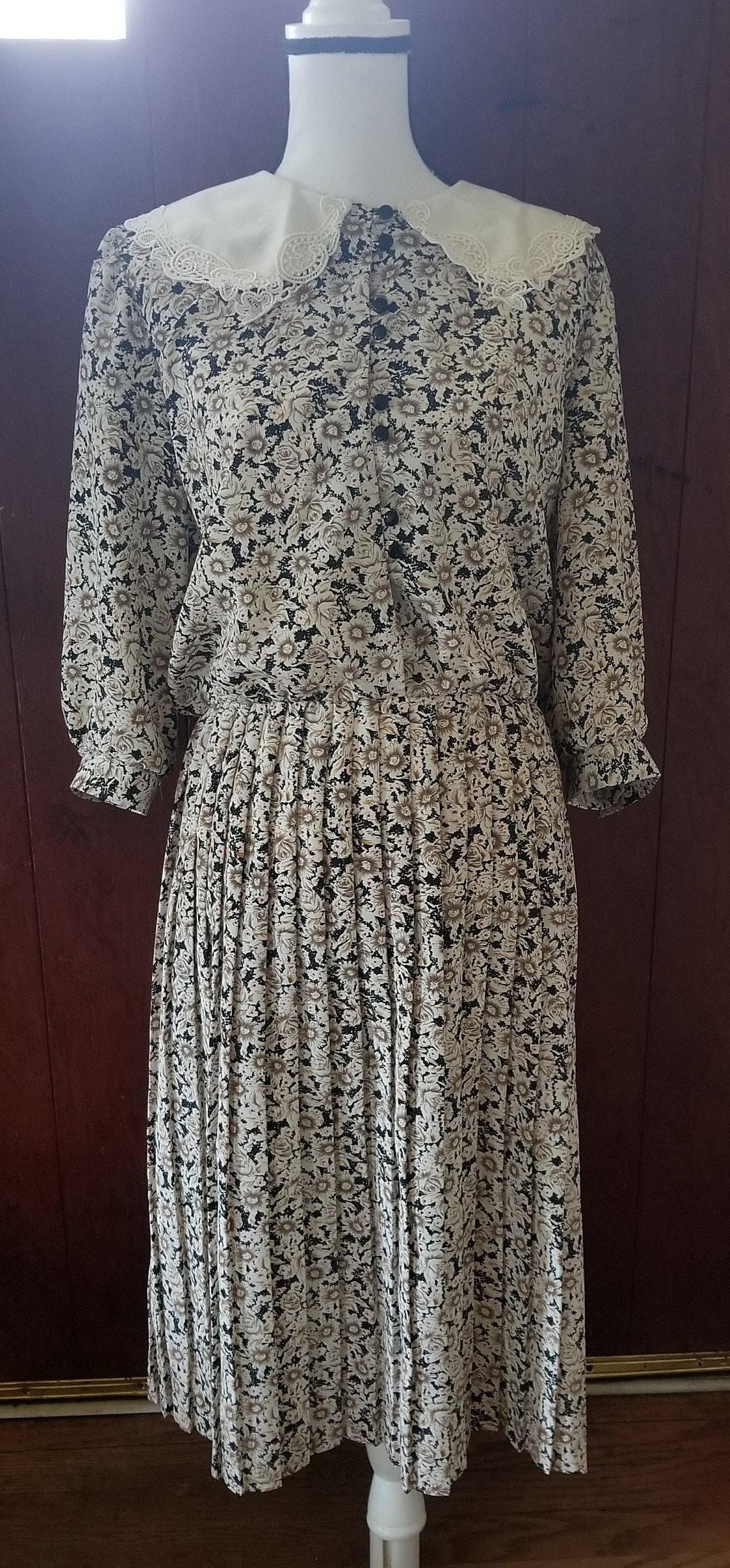 8853e94ddd Vintage Breli Originals Dress 12 Floral Peter Pan Collar