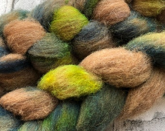 100g hand dyed Manx Loaghton top