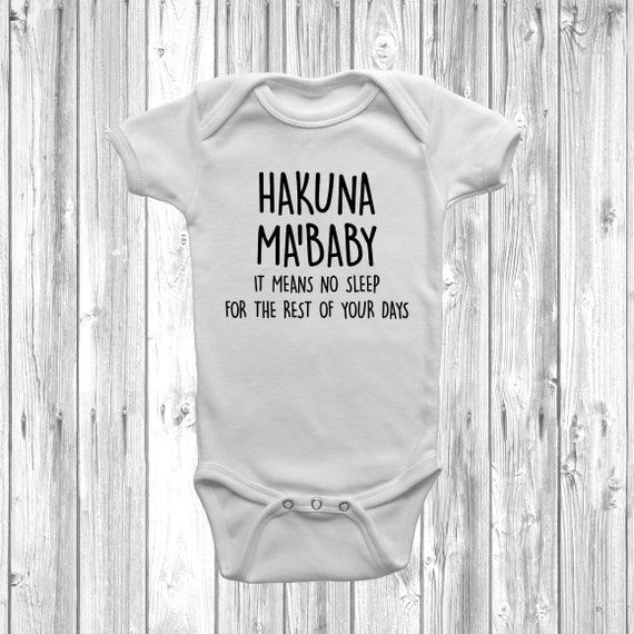 Hakuna Ma/'Baby Baby Grow Vest Body Suit Funny Humour Disney Inspired