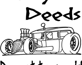 speedy delivery custom hot rod classic car parts runner etsy 1954 Dodge Rat Rod rust deeds done at top speeds rat rod classic car svg