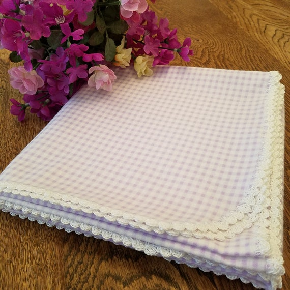 Baby Girl Lavender Baby Blanket Purple Receiving Blanket