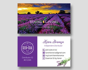 Young living business cards etsy personalized young living business cards yl business cards young living independent distributor essential oils yl12 colourmoves
