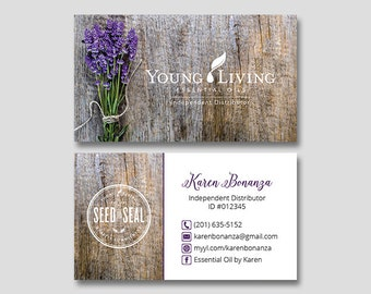 Personalized Young Living Business Cards YL Independent Distributor Essential Oils YL27