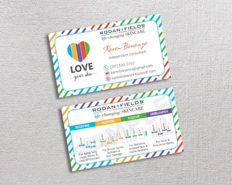 Custom ever skincare business card etsy rodan and fields business cards rf business cards rodan fields business cards skincare business card modern business cards rf22 colourmoves