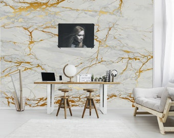 Grunge Marble Texture Wallpaper Home Decor Wall Decal Removable Peel And Stick Stickerprint Paintingclipartboho