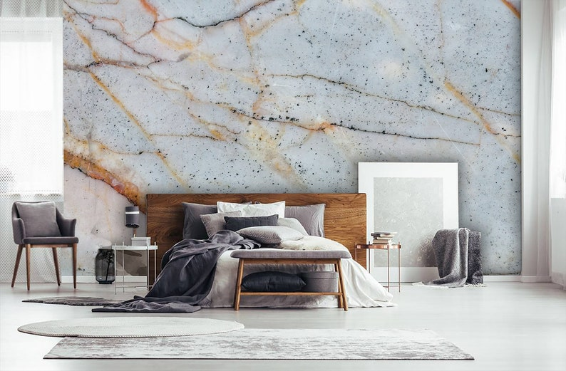 Grunge Marble Texture Wallpaper Home Decor Wall Decal