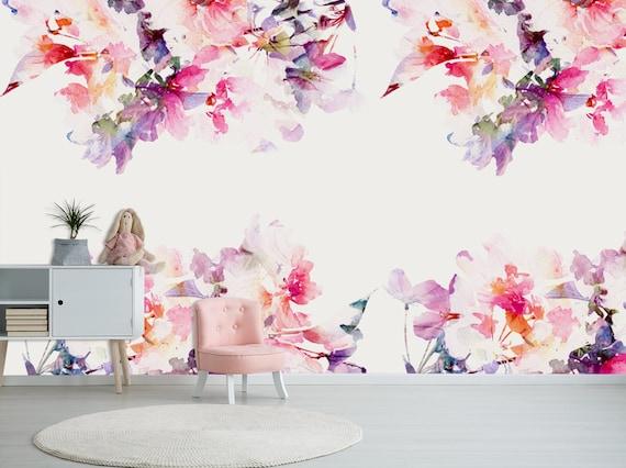 Peinture à L Huile Peinture Murale Pastel Fond D écran De Fleurs Rouges Clipart Floral Décor à La Maison Décalque De Mur Peau Amovible Et Fond