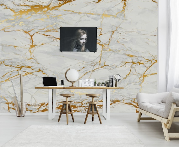 Grunge Marble Texture Wallpaper Home Decor Wall Decal Removable Peel And Stick Wallpaper Wall Decor Stickerprint Paintingclipartboho