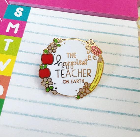 LAST ONES New In Box THREE ENAMEL PINS FOR TEACHER
