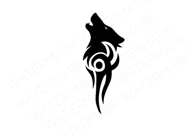 Wolf Cutout Files for Cricut SVG and Silhouette Studio File Cut Out Stencil  Decal Logo SVGS Tribal Tattoo Solid Black