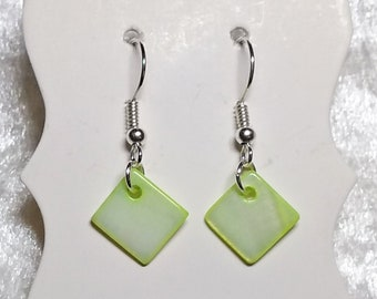 Hip to be Square, square earrings, many colours available, hypoallergenic, drop and dangle earring