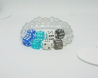 Fraysexual, a pride bracelet made with hand-drilled dice beads, unisex, great for gifting or treating yourself