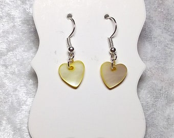 Two of Hearts, heart earrings, many colours available, hypoallergenic, drop and dangle earring