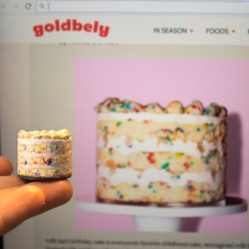 Milk Bar Funfetti Birthday Cake Mini Polymer Clay