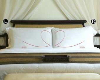 Couples pillow case set - heart