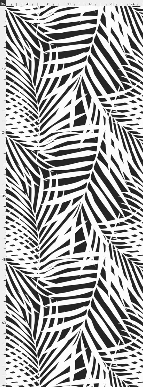 Black White Palms Wallpaper Removable Abstract Wallpaper