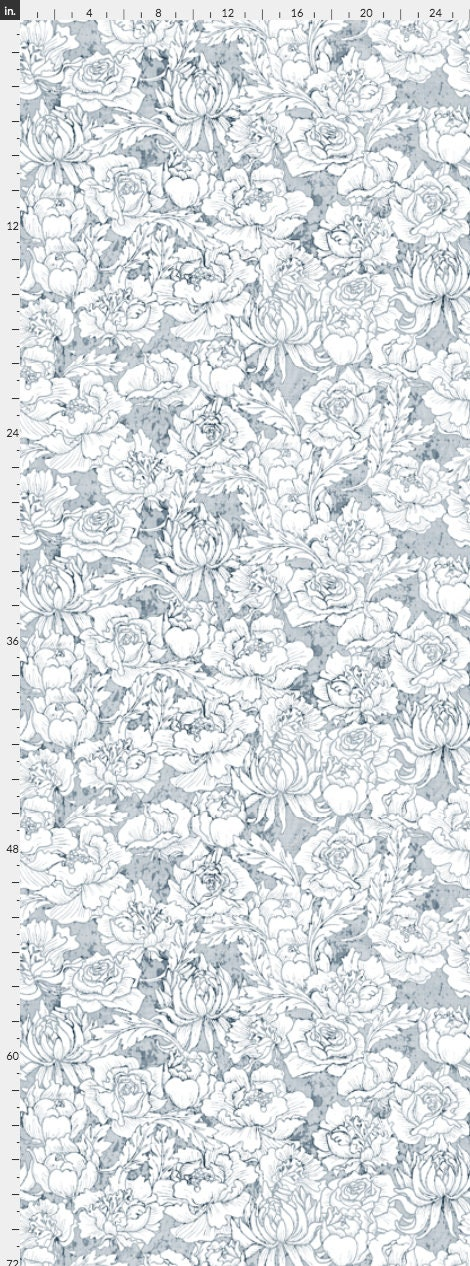 Light Blue Floral Wallpaper Removable Abstract Wallpaper Peel And Stick Wallpaper Blue Floral Wallpaper Self Adhesive Wallpaper