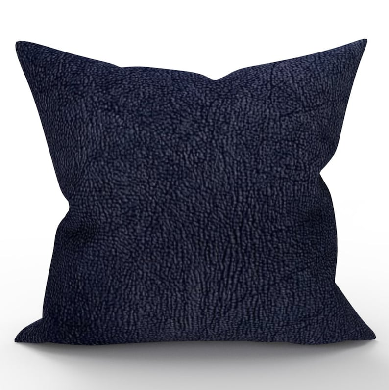 Decorative Throw Pillow Cover Navy Blue White Pillow Cover Etsy