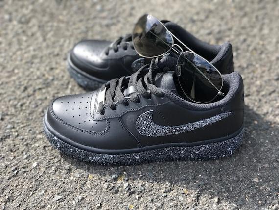 ceny detaliczne niska cena Kod kuponu Custom sneakers, nike, oreo, air force, black and silver mixed customized  shoes