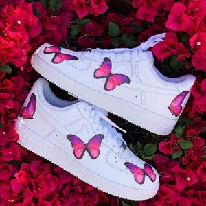 air force 1 papillon bleu