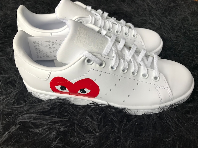 new arrival 46845 8f5ad Sneakers women custom shoes stan smith adidas gift white   Etsy