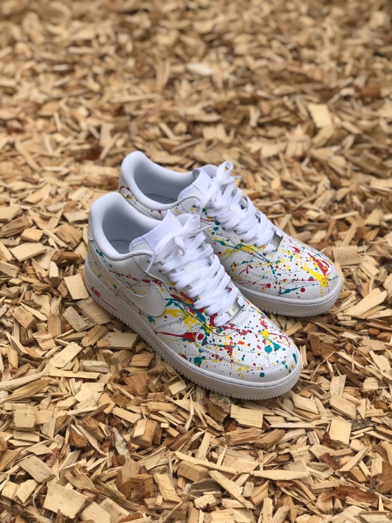 Air force splash, custom, nike, white, all colors available