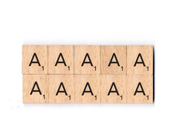 Individual Wooden Scrabble Letters Tiles Alphabets for Scrapbooking, Wedding Frames and Crafts, Choose your own letters! (English Alphabet)